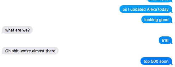 July 2015: The Alexa conversation