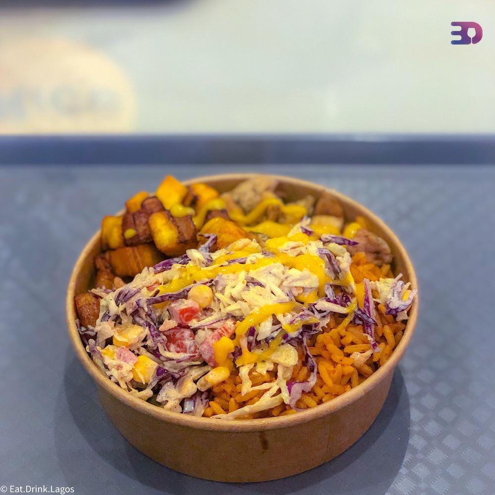 BYOB - Jollof, chicken, plantains and coleslaw
