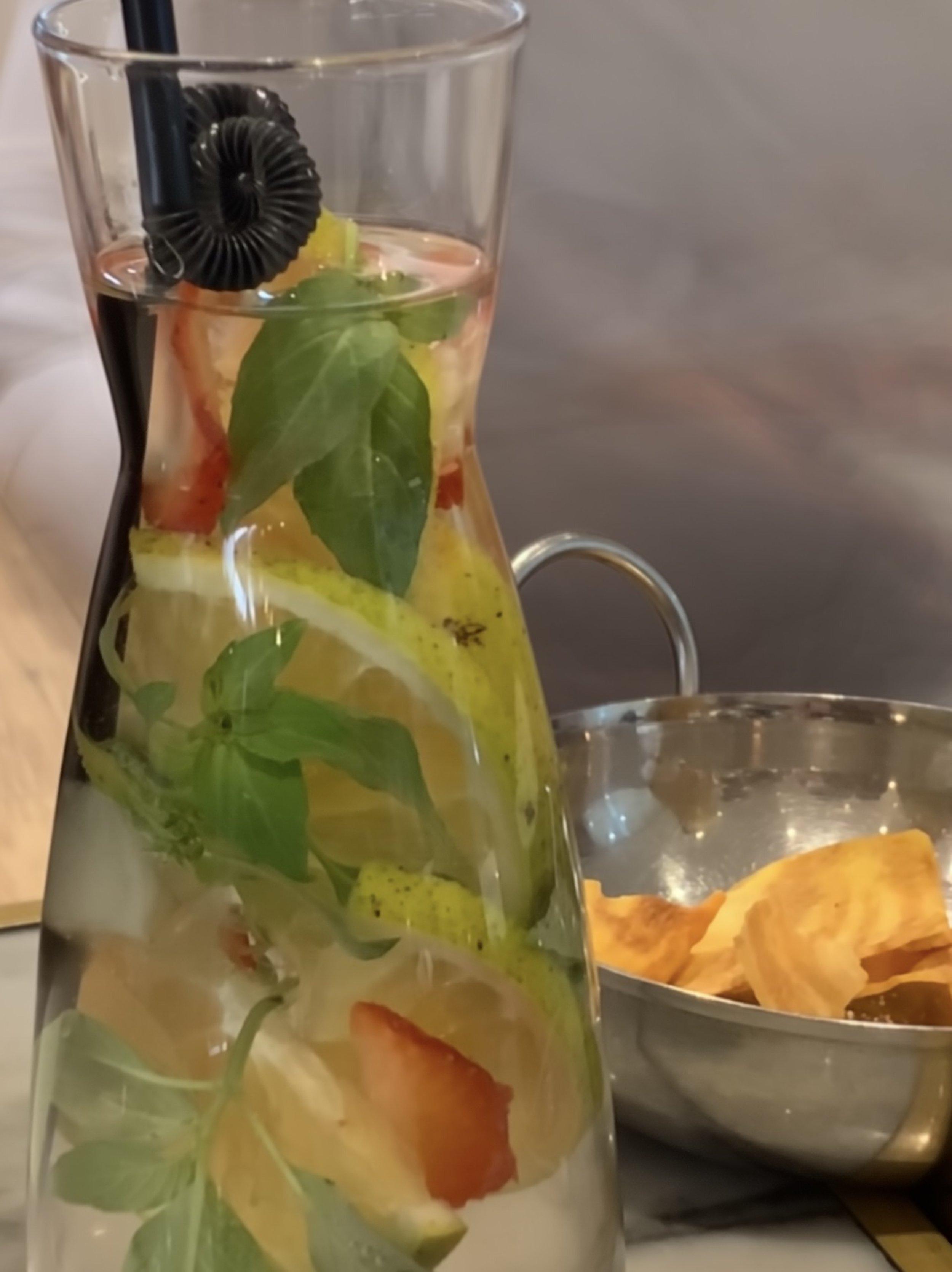 Infused Water (strawberry, orange, basil)