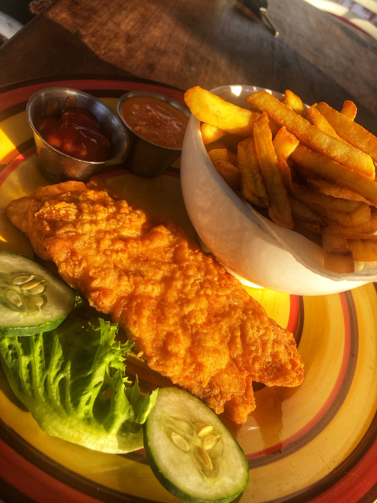 Fish and chips at Lighthouse Lekki