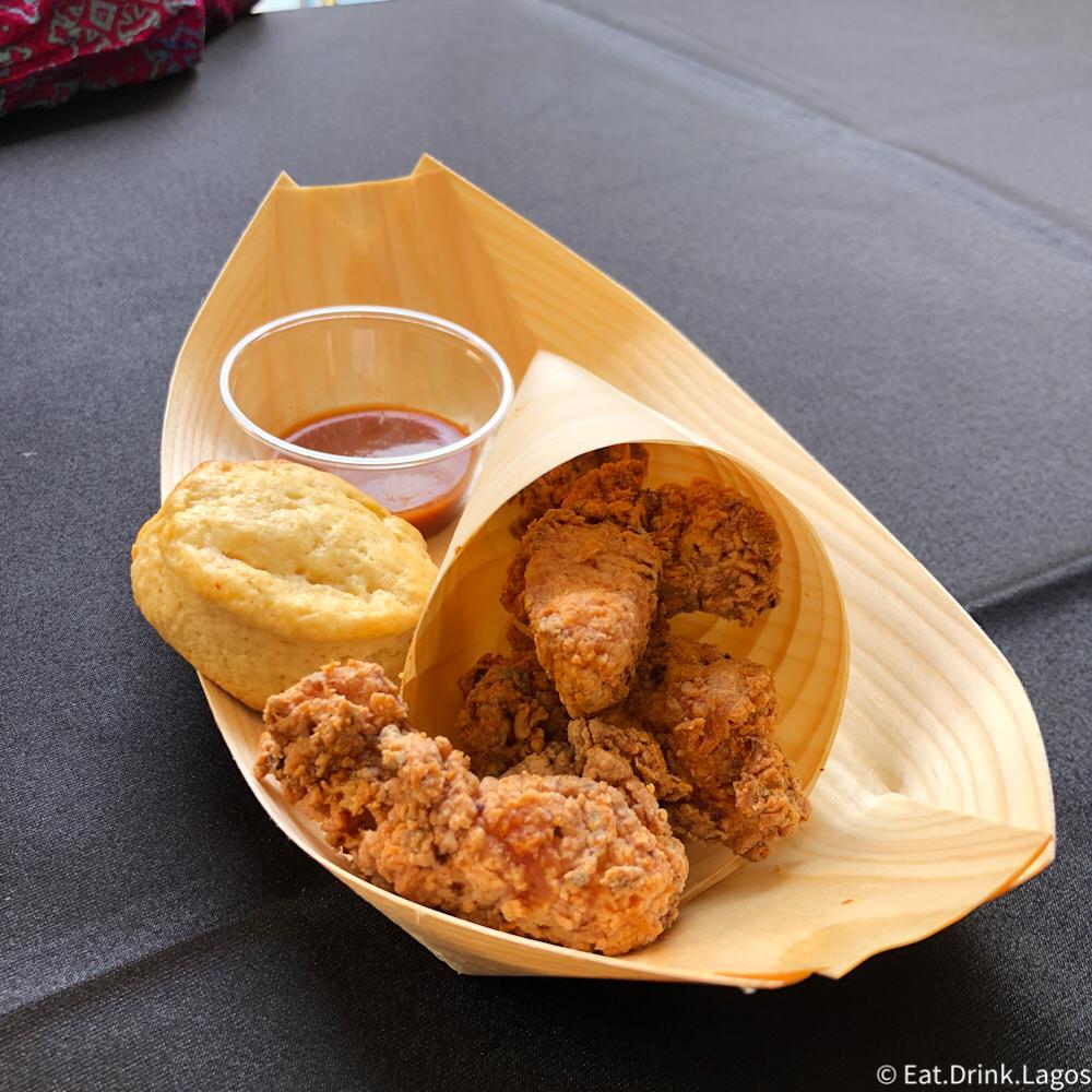 Popcorn Chicken  - yaji popcorn chicken, buttermilk biscuit and honey butter