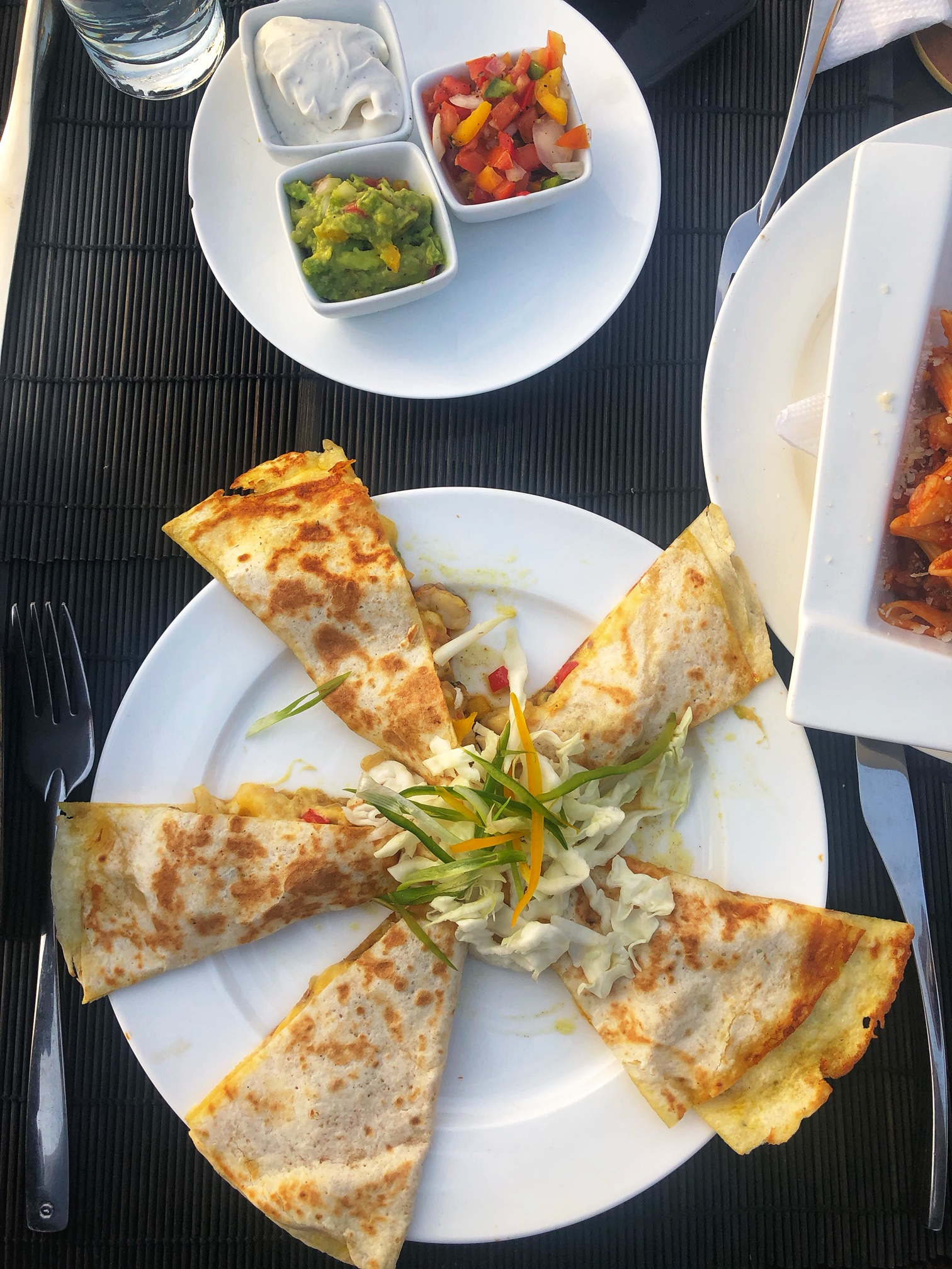 Quesadillas at KingFisher