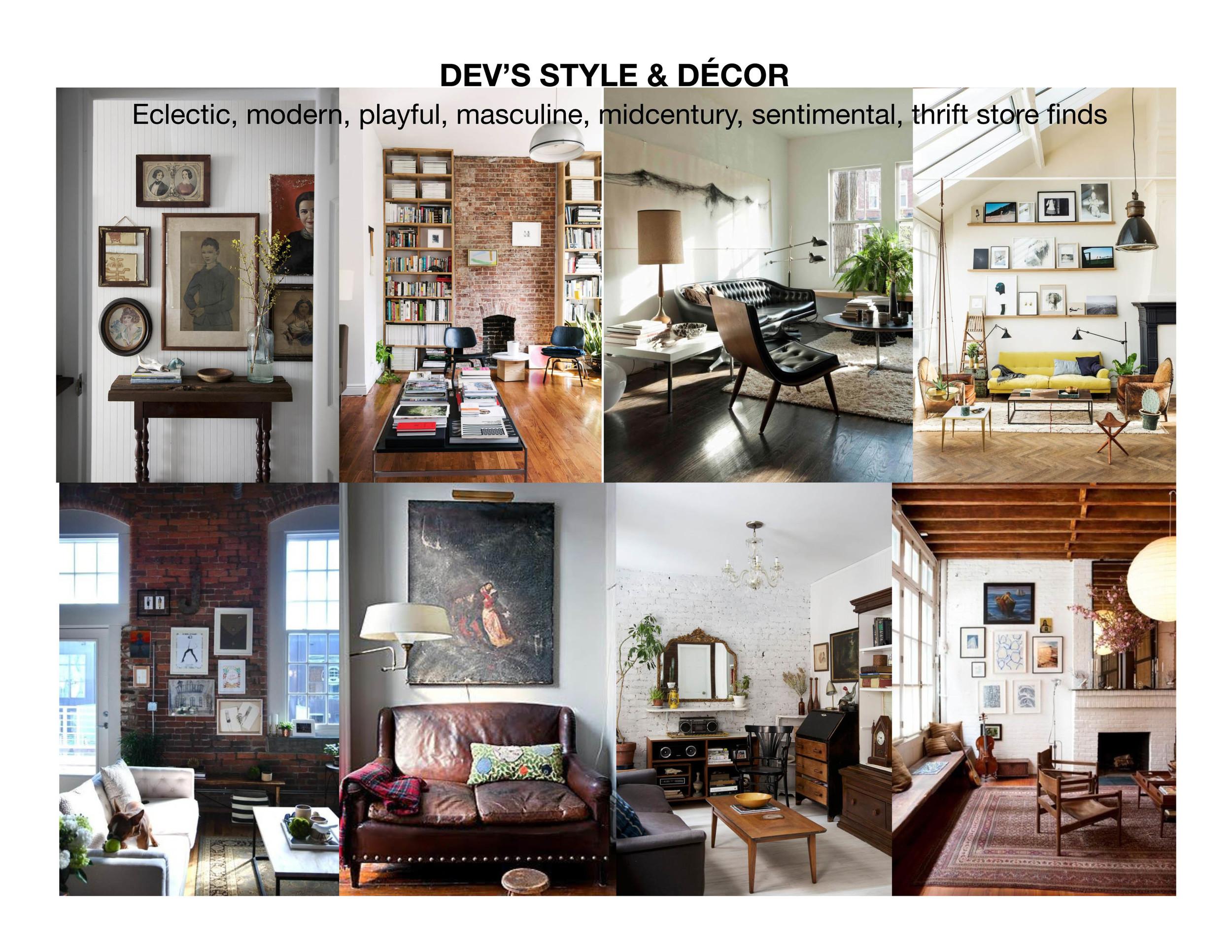 Dev's Apartment Inspiration