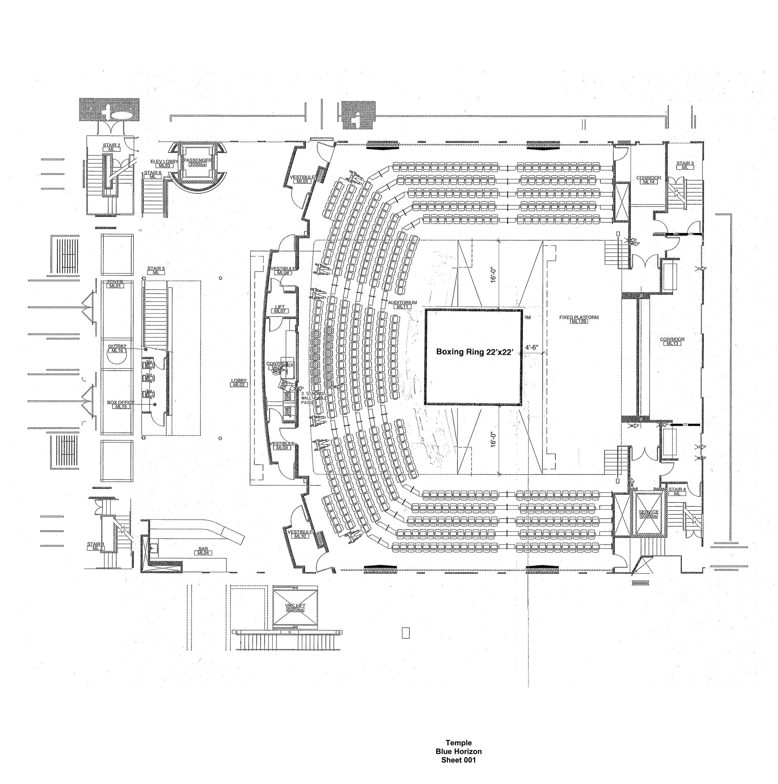 Boxing Ring Floor Plan