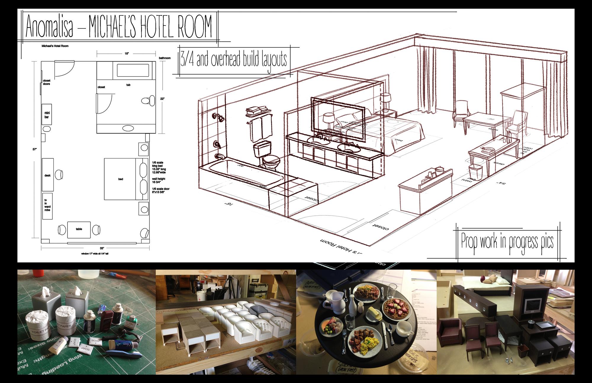 Michael's Hotel Room Floor Plan