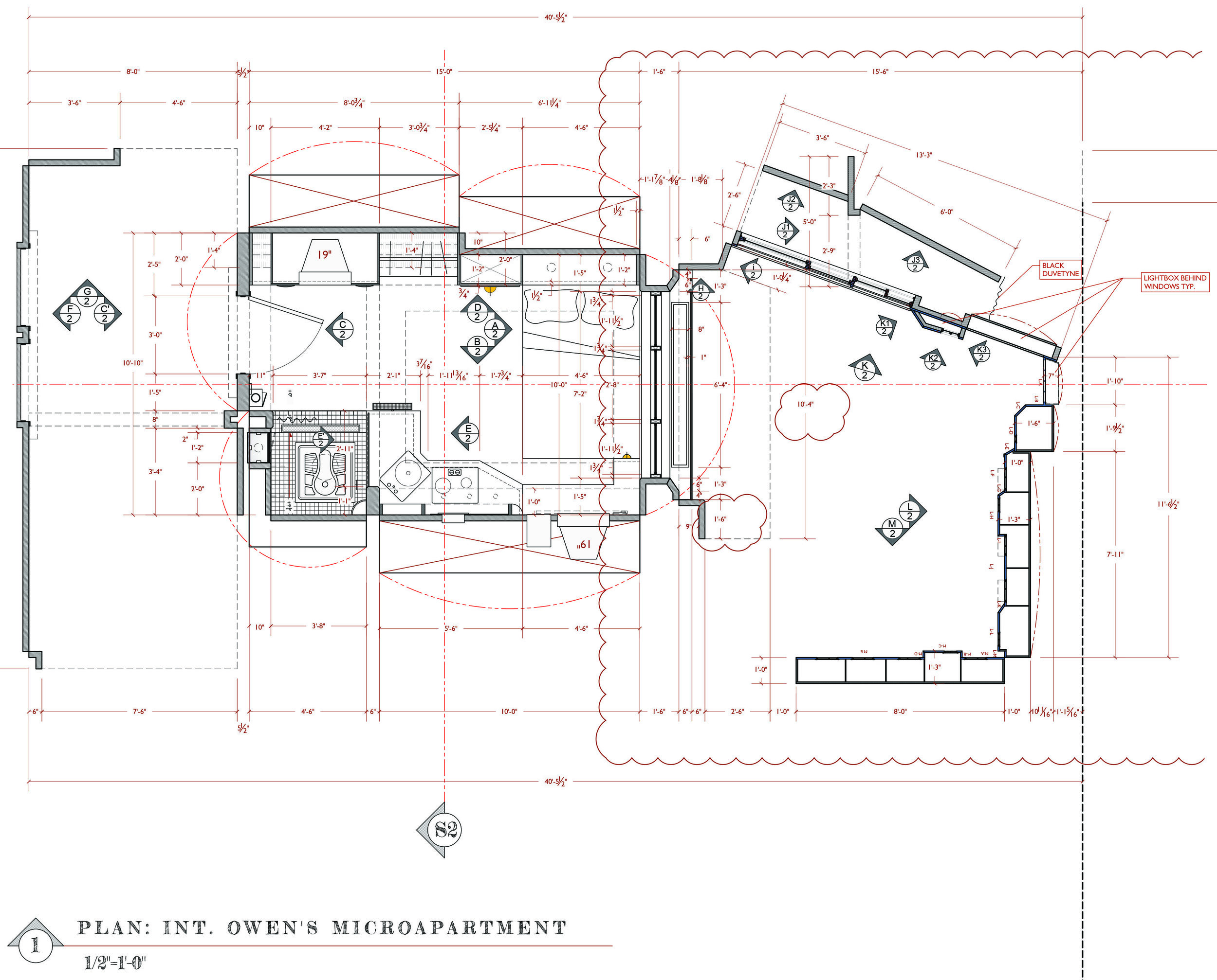 OWEN'S APARTMENT - FLOOR PLAN