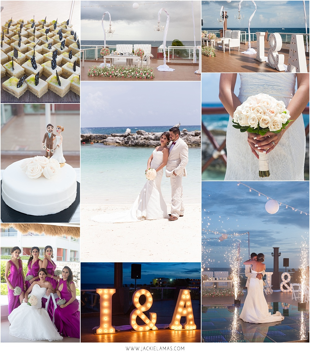 A fashion glam wedding in the Riviera Maya near Cancun, Mexico