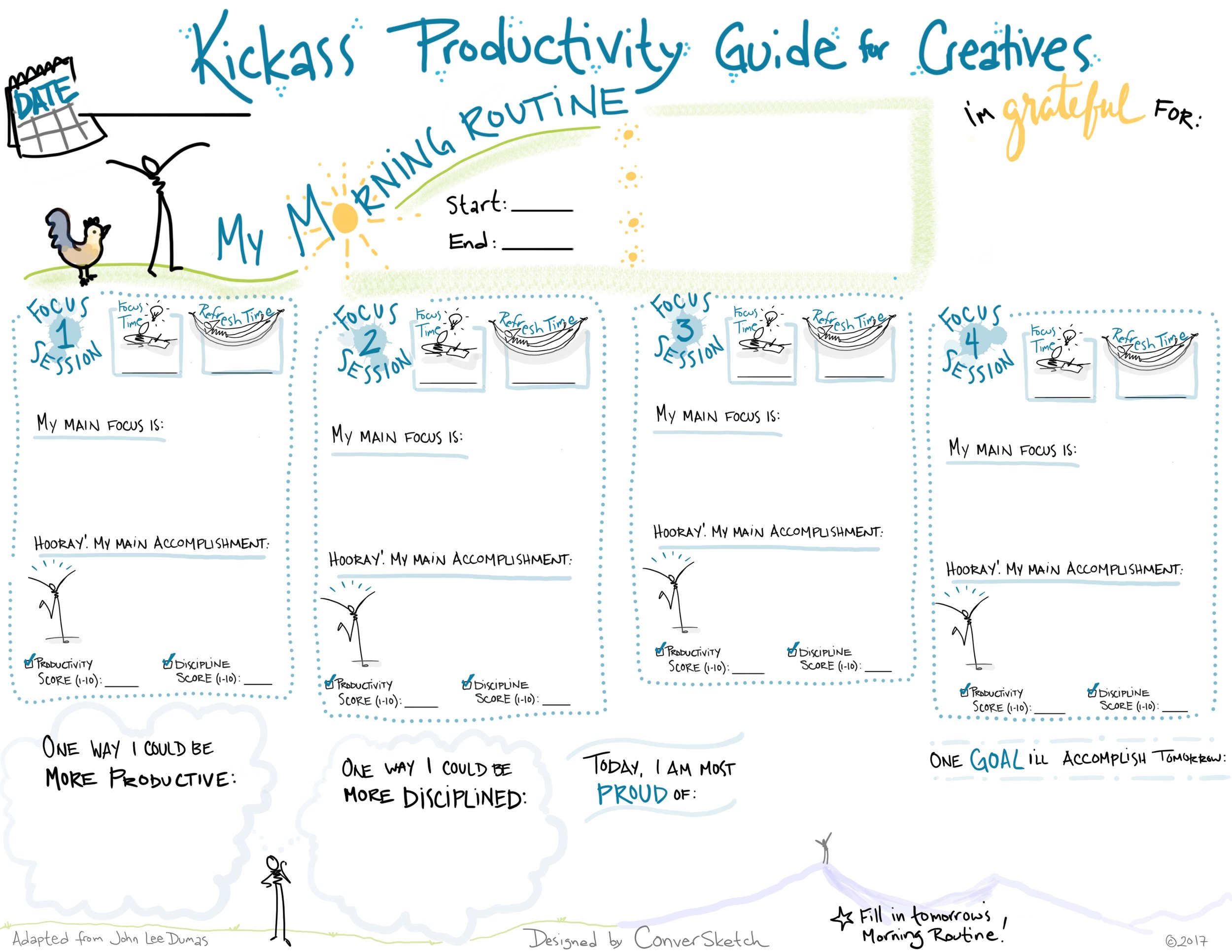 visual productivity guide for creative people