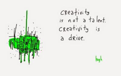 hugh mcleod creativity is a drive