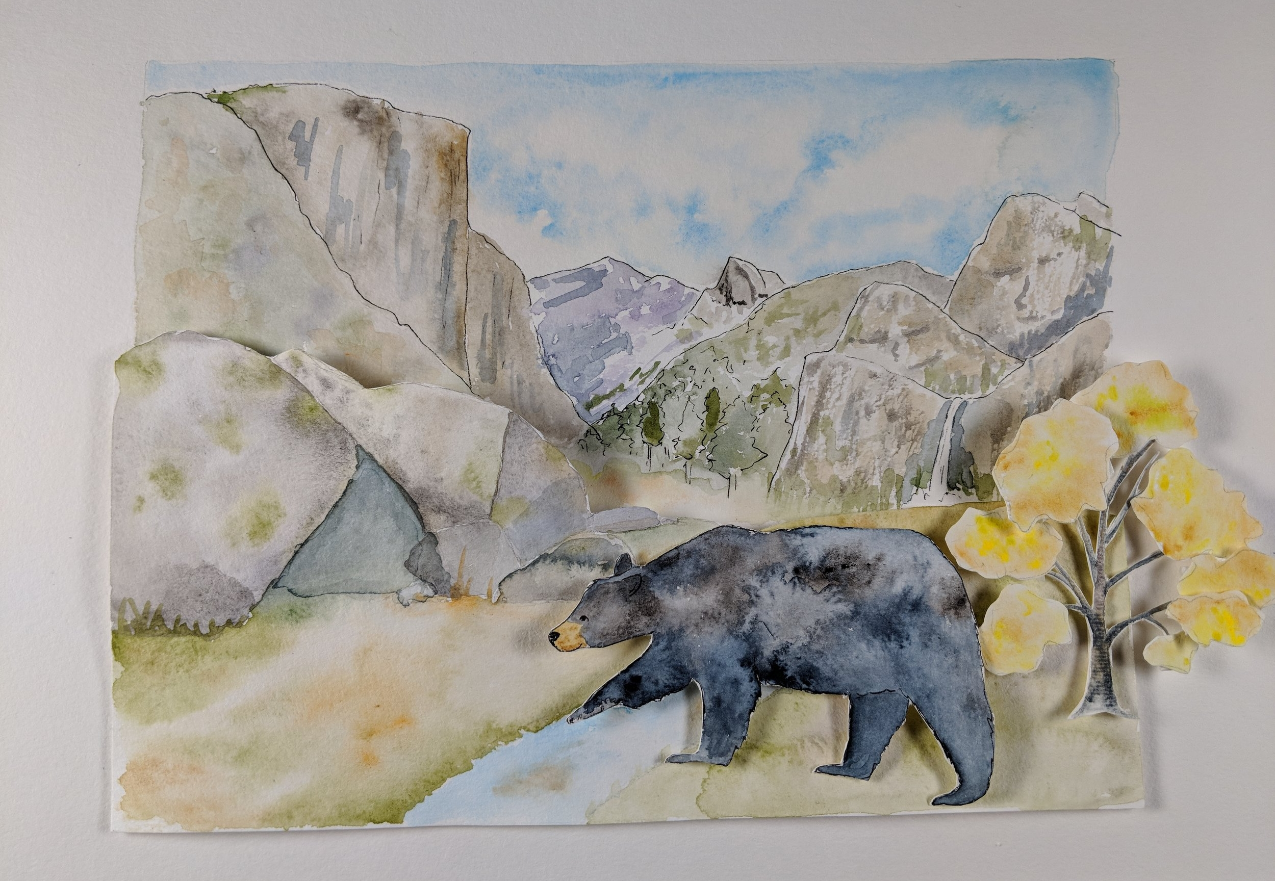 In the Studio:  Last week I wrapped up the third Drawing Connections video for the National Park Service Climate Change Response Program. This video will take you through the seasons at Yosemite National Park! Click here to see the  Fort Laramie  video, and here for  Cabrillo .