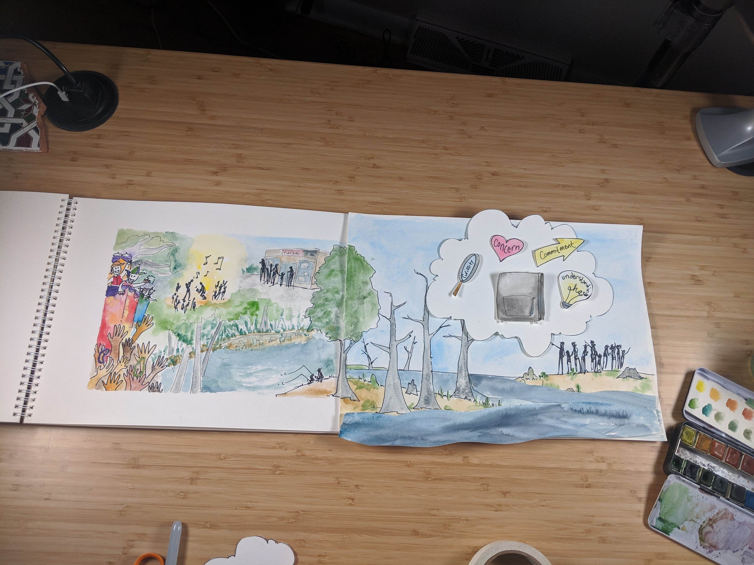 In the Studio:  Filming a new  illustrated video  for the National Park Service Climate Change Response Program, creating digital illustrations, and prepping for a lot of travel next week.