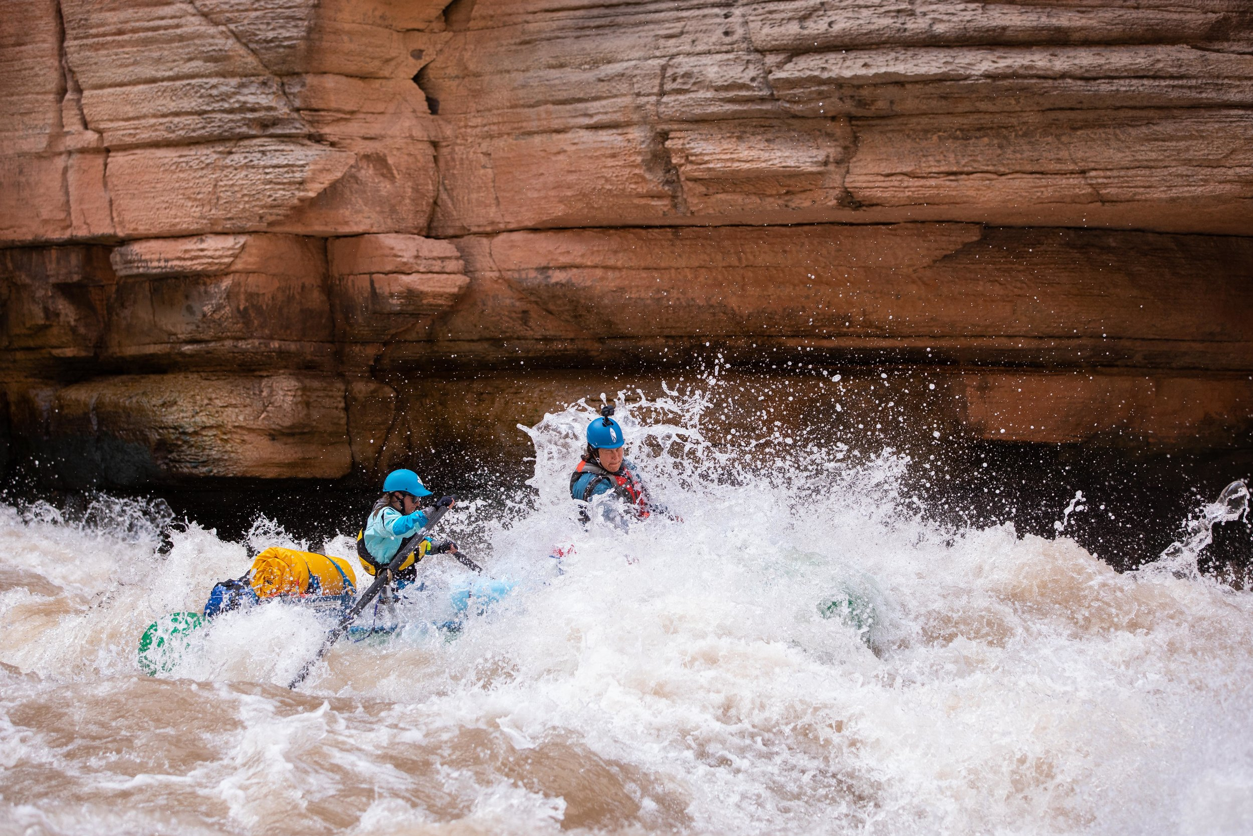It's been a month since we've been back from rafting the Grand Canyon and I'm stoked to share this shot taken by  my husband  - that's me in the light blue rowing through a rapid called Upset!  Click on the photo to see a larger version!  Photo: Spencer Branson