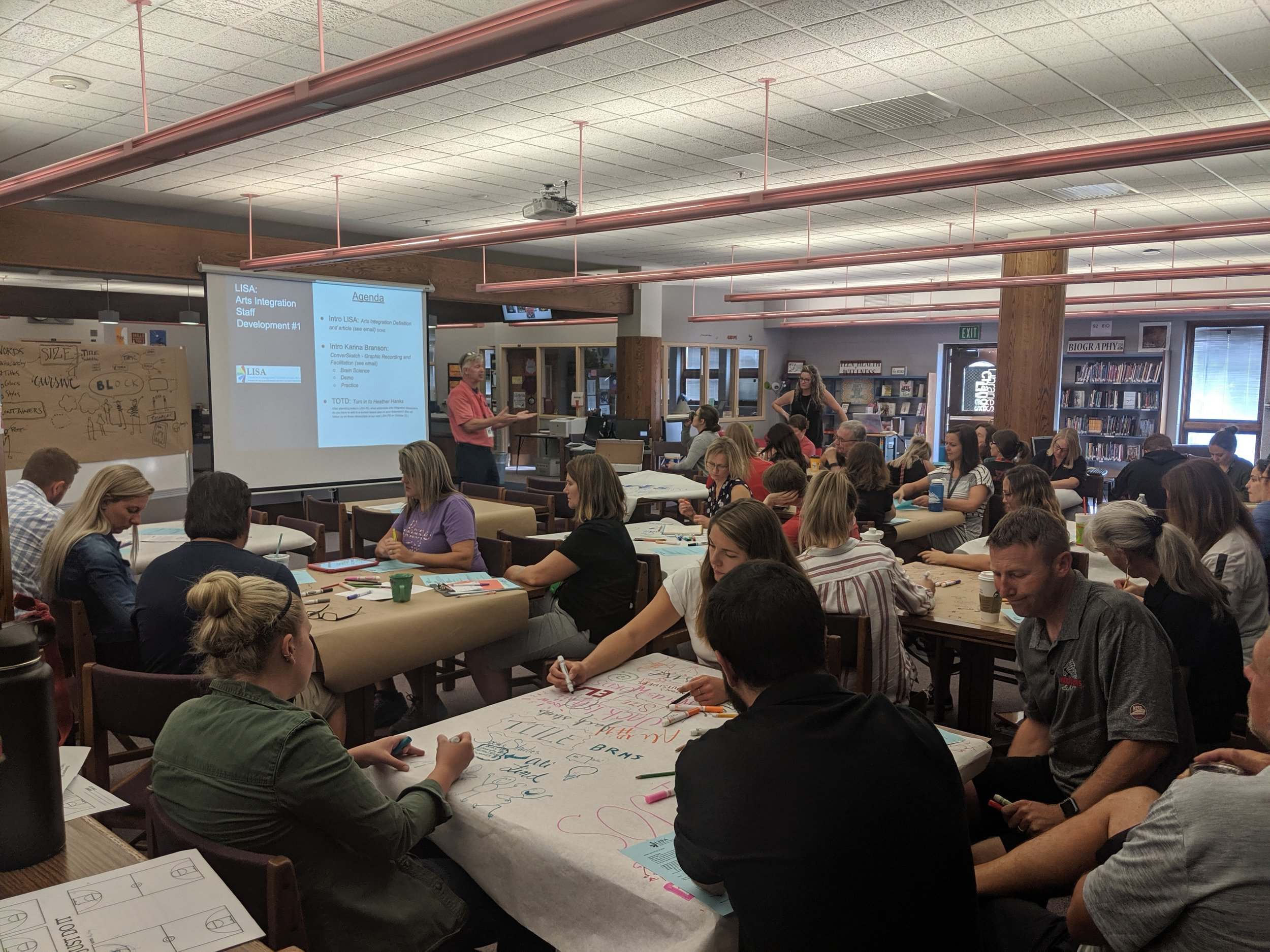 Loveland, Colorado   Sharing tips and trick for visual communication with teachers at Bill Reed Middle School!