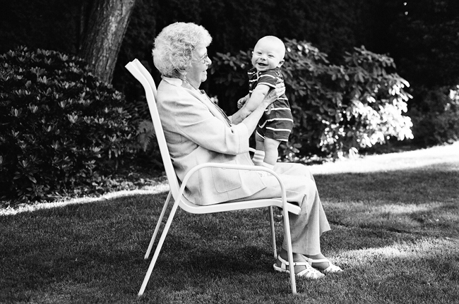 grandma and baby photography exhibition by Portland photographer Linnea Osterberg