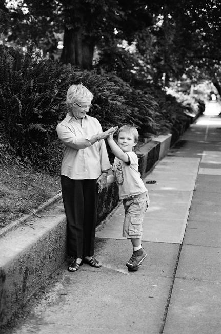 grandma children portraits exhibition by Portland photographer Linnea Osterberg