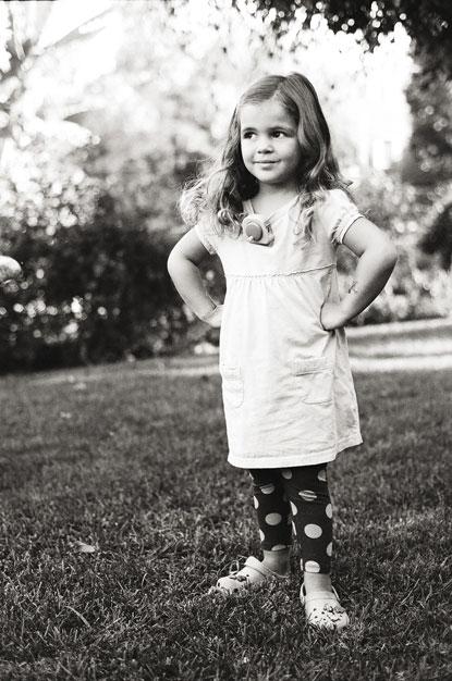 girl outside portrait by Portland photographer Linnea Osterberg