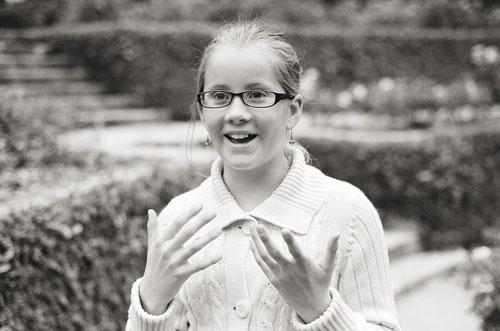 girl in glasses portrait by Portland photographer Linnea Osterberg