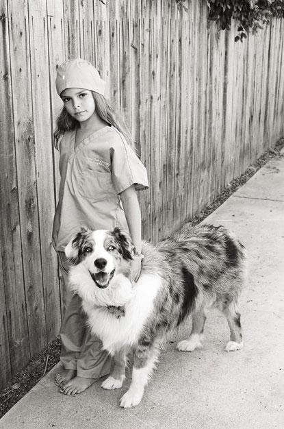 girl and dog photograph by Portland photographer Linnea Osterberg