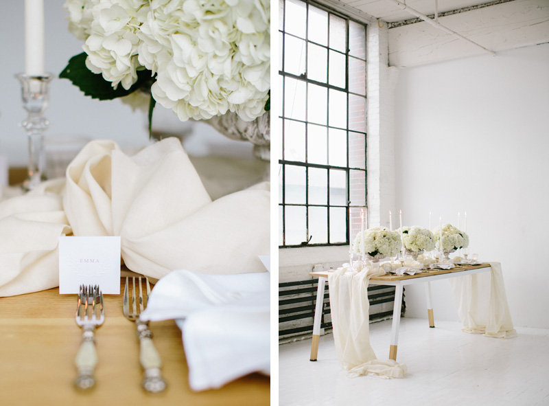 Seattle Loft White Wedding