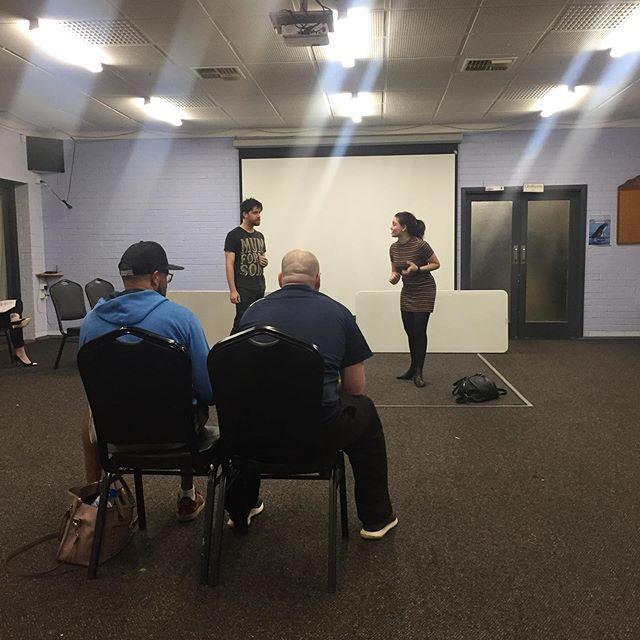 One act rehearsals underway 🎭