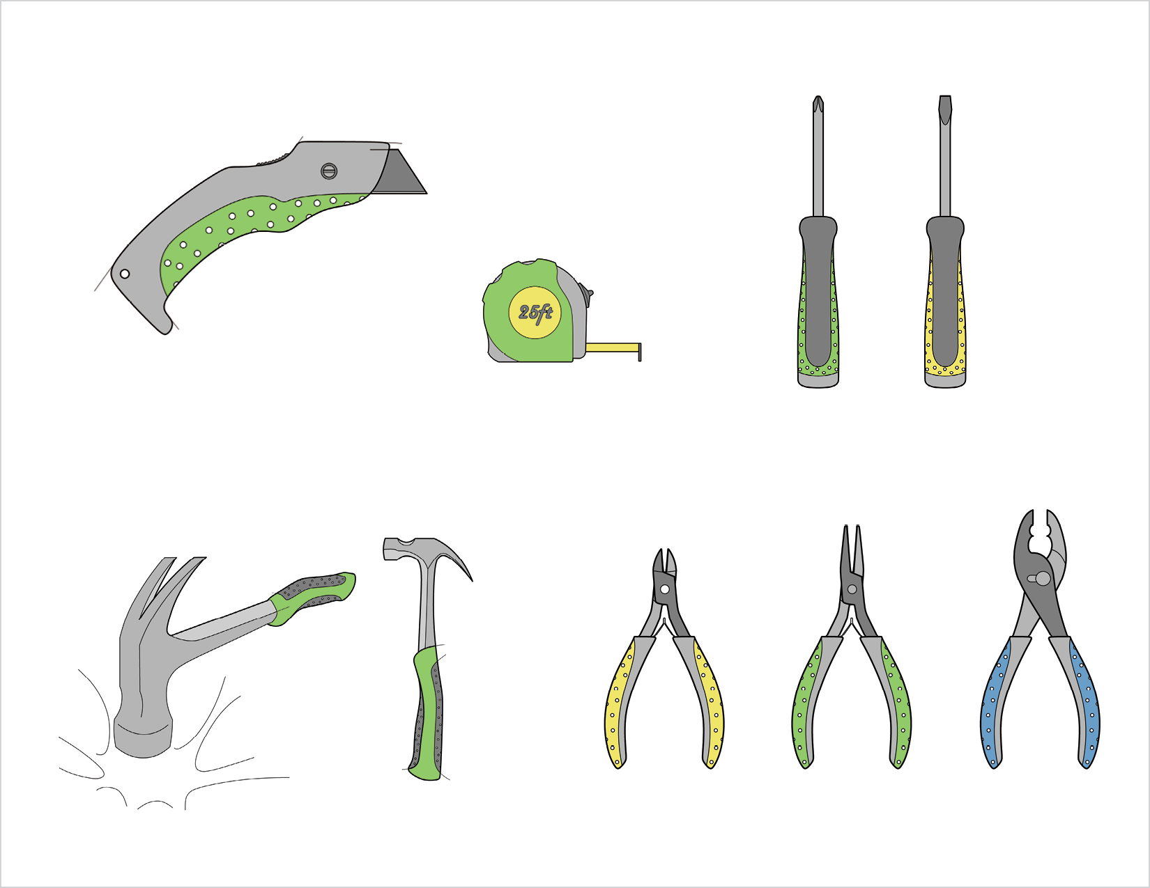 A beginner tool set to get startedremain essentially same except for the look and feel as they are made such that they carry forward with them intotheir adult life.