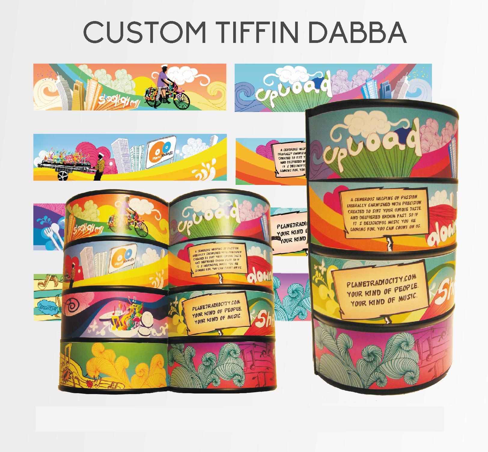 Customized Tiffin Dabba CD Case graphic designs on 'dabbawalla' concept for Radio City 91 FM, a leading Radio Channel