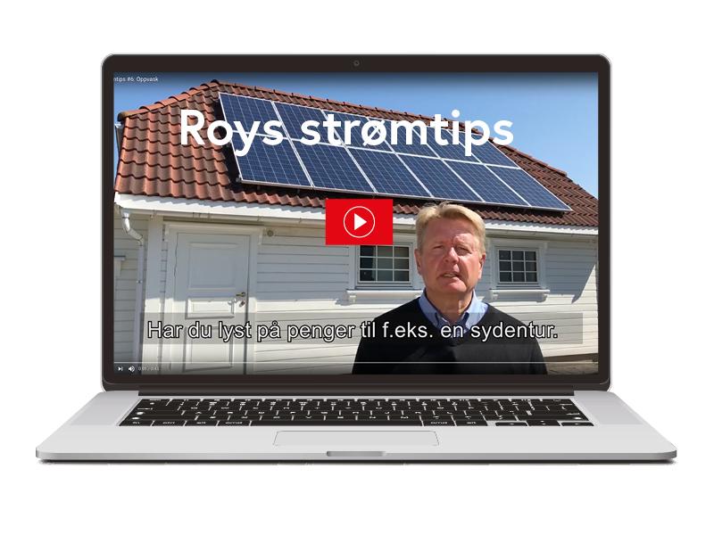 Strømsjefen i Fredrikstad EnergiSalg, Roy Henriksen, tar deg med inn i hjemmet sitt og gir deg lønnsomme strømsparetips i hverdagen. Klikk på linkene nederst i saken for å se videotipsene.
