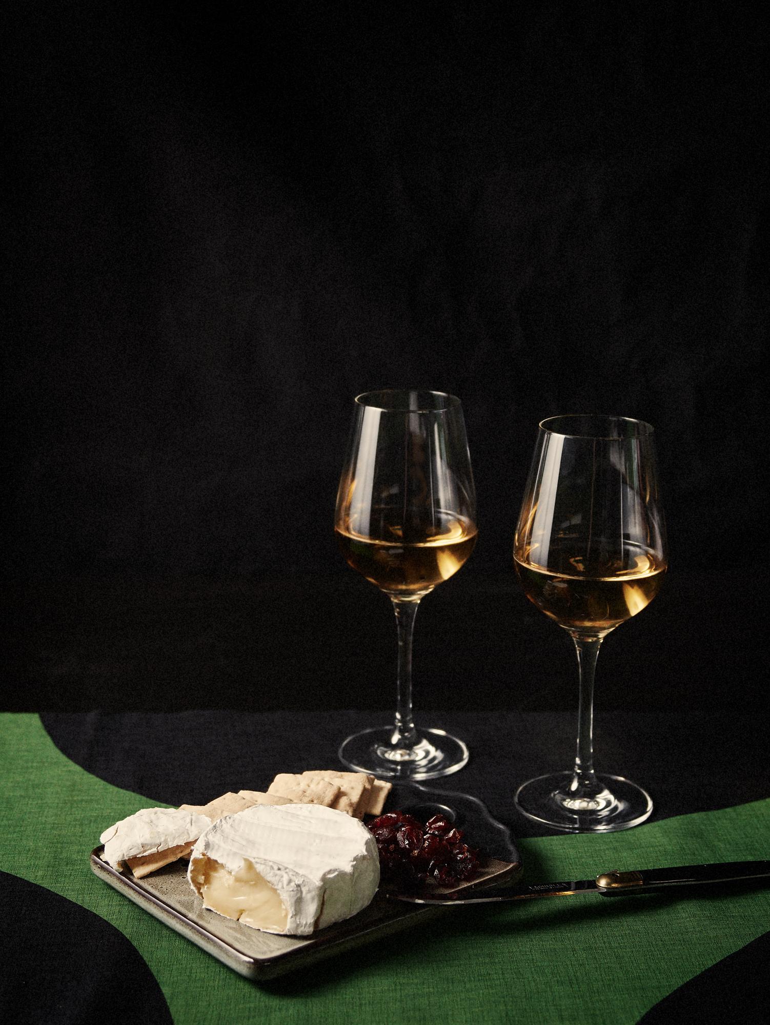 wine + brie