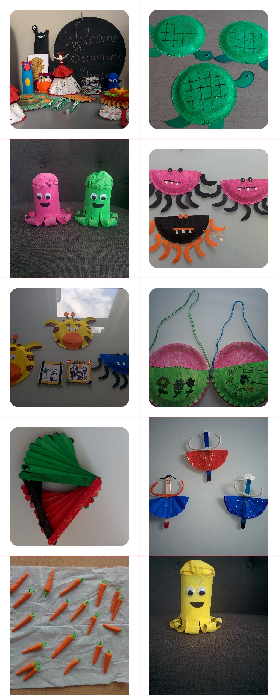 Some of the art & craft work from 2016 workshop