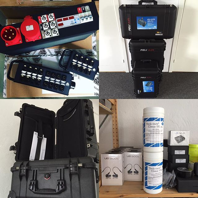 New stock available in the Studio. #ultimateears #peli #pinanson  #peliair #referencelaboratory #toursupply #tourlife