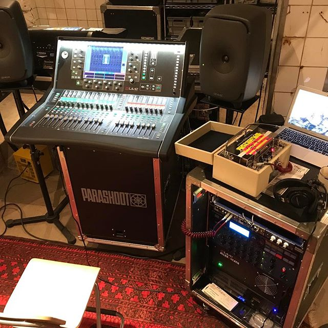 Not only do we have cozy rehearsal studios... Parashoot is part of the dLive Rental Network, Carrying following stock: 3 x S7000 2 x D5000 1 x S3000 3 x DM64 2 x DM48 6  x DX32 All with dual psu setup 5 x C1500 4 x CDM32 1 x CDM48 Waves3, gigaACE, fibreACE, MADI,  Dante, ACE Cards Loads of Pelicases for fly kit up's  And partners Worldwide  Digico rental: 3 x SDTEN-24 1 x SD Rack 56/48 All Stealth Core 3 and Optical