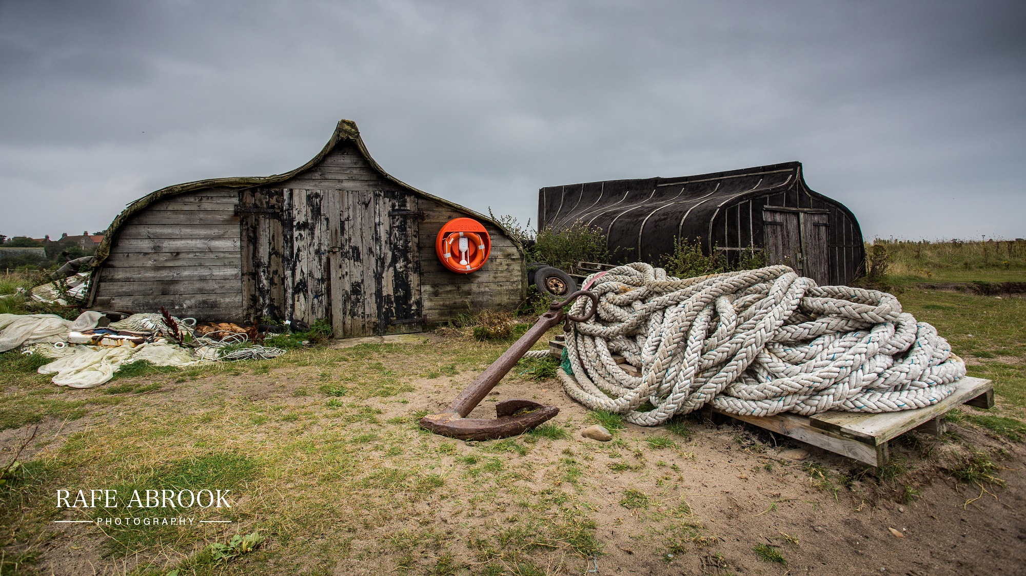 Old Boating Lockups at Lindisfarne Harbour