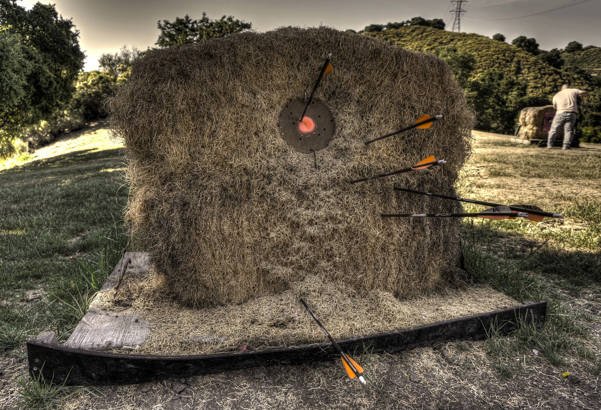 Target at archery range  by Peter Thoeny