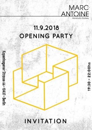 Opening Party Invitation Kopenhagenerstrasse Prenzlauerberg