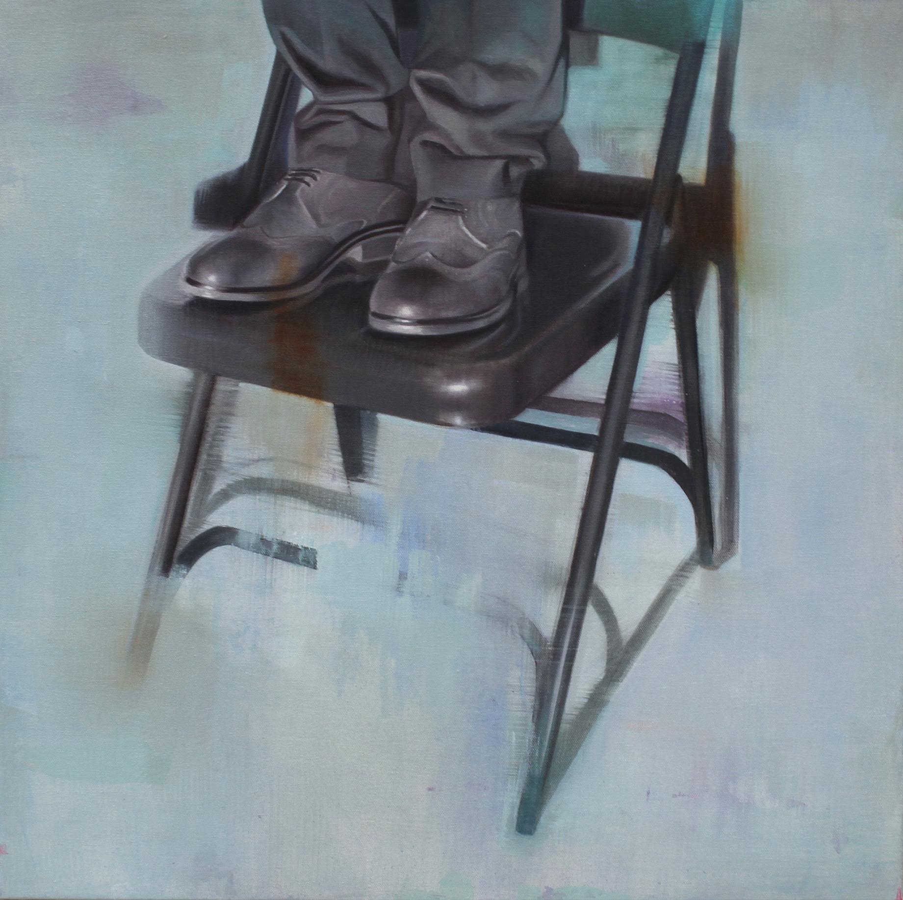 Reposo 2. Oil on canvas. 24x24 inches. 2017