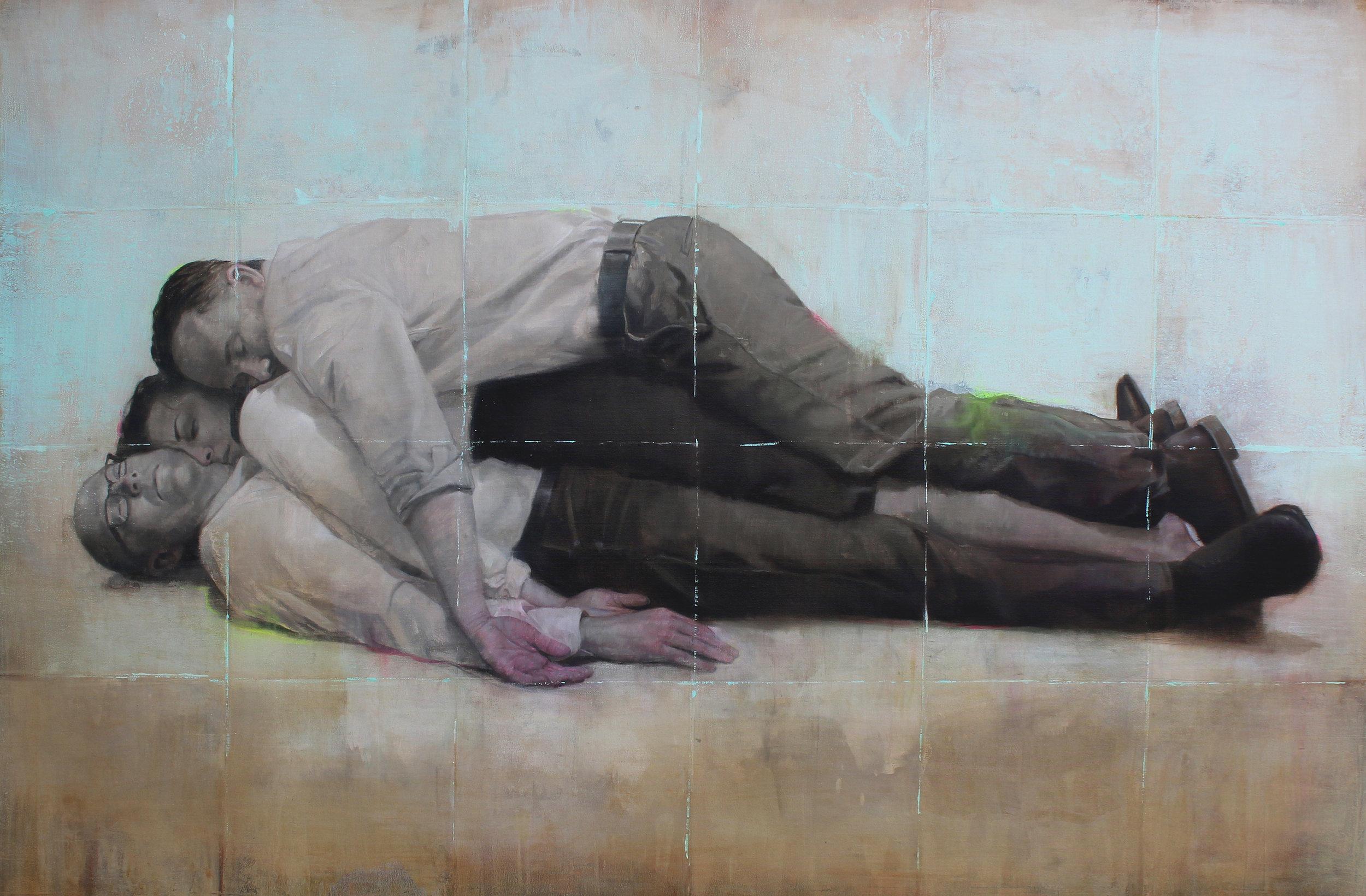 """""""Acomulación"""". Oil on canvas. 72x48 inches. 2017"""