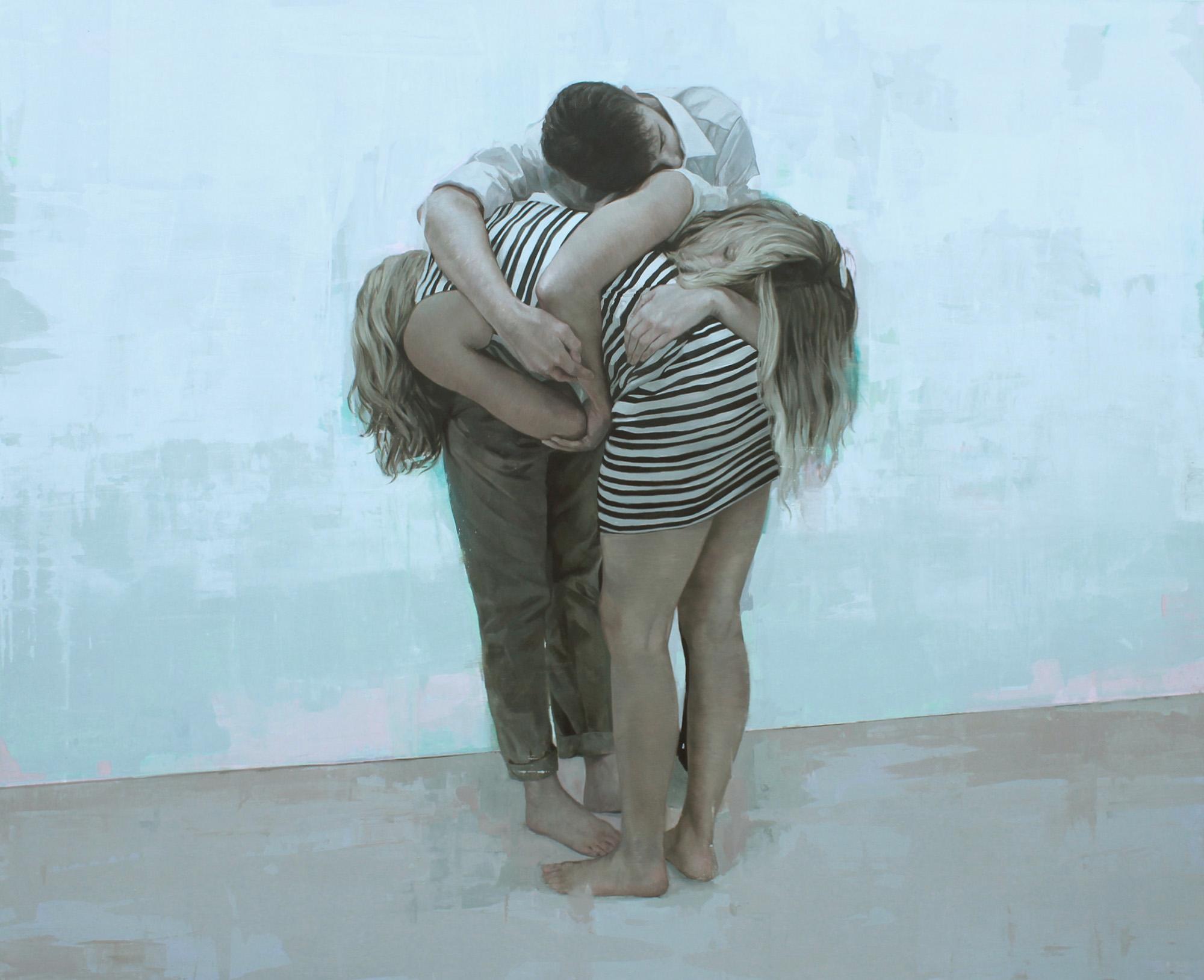 """Material Adjunto"". Oil on canvas. 68""x84"". 2017"