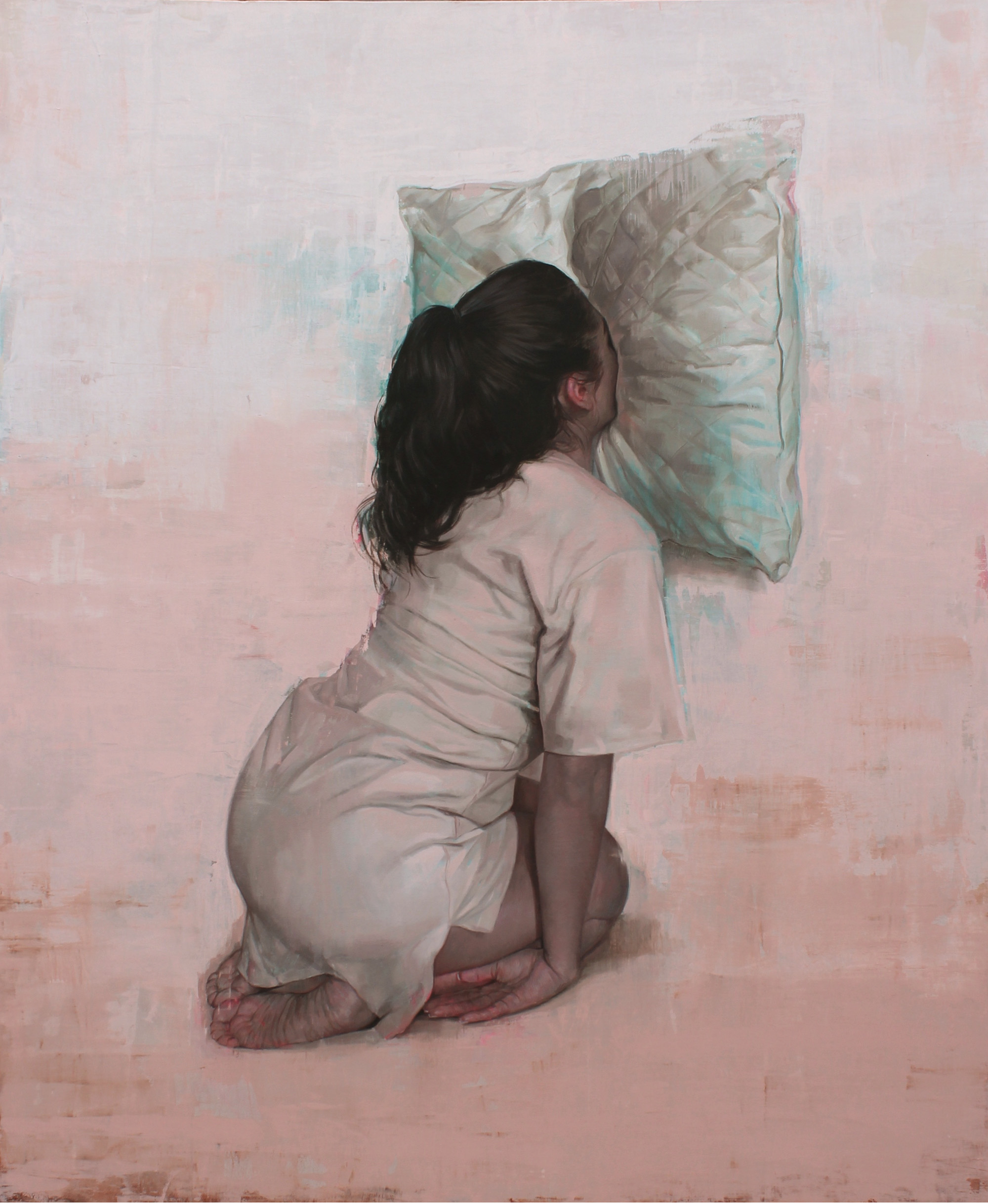 """El buen uso. Oil on canvas. 67""""x55"""". 2018"""