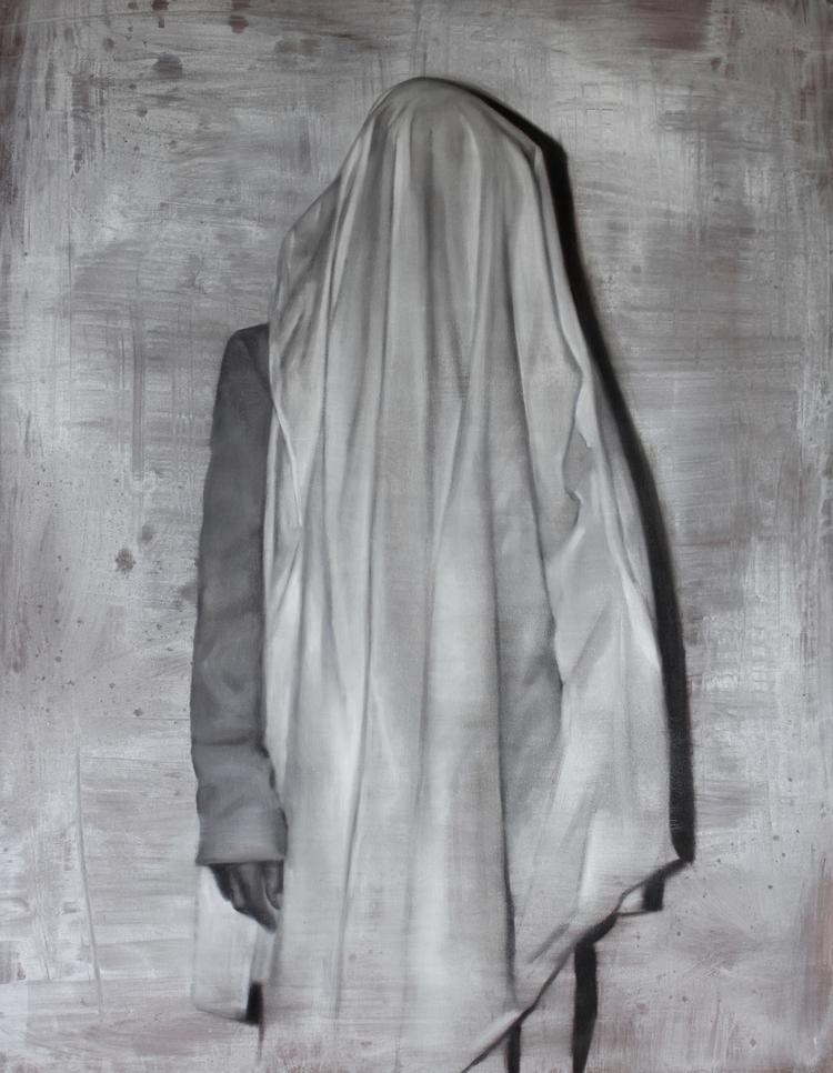 """""""Performace para un sonámbulo"""" Oil on canvas. 120x100cm. 2015"""