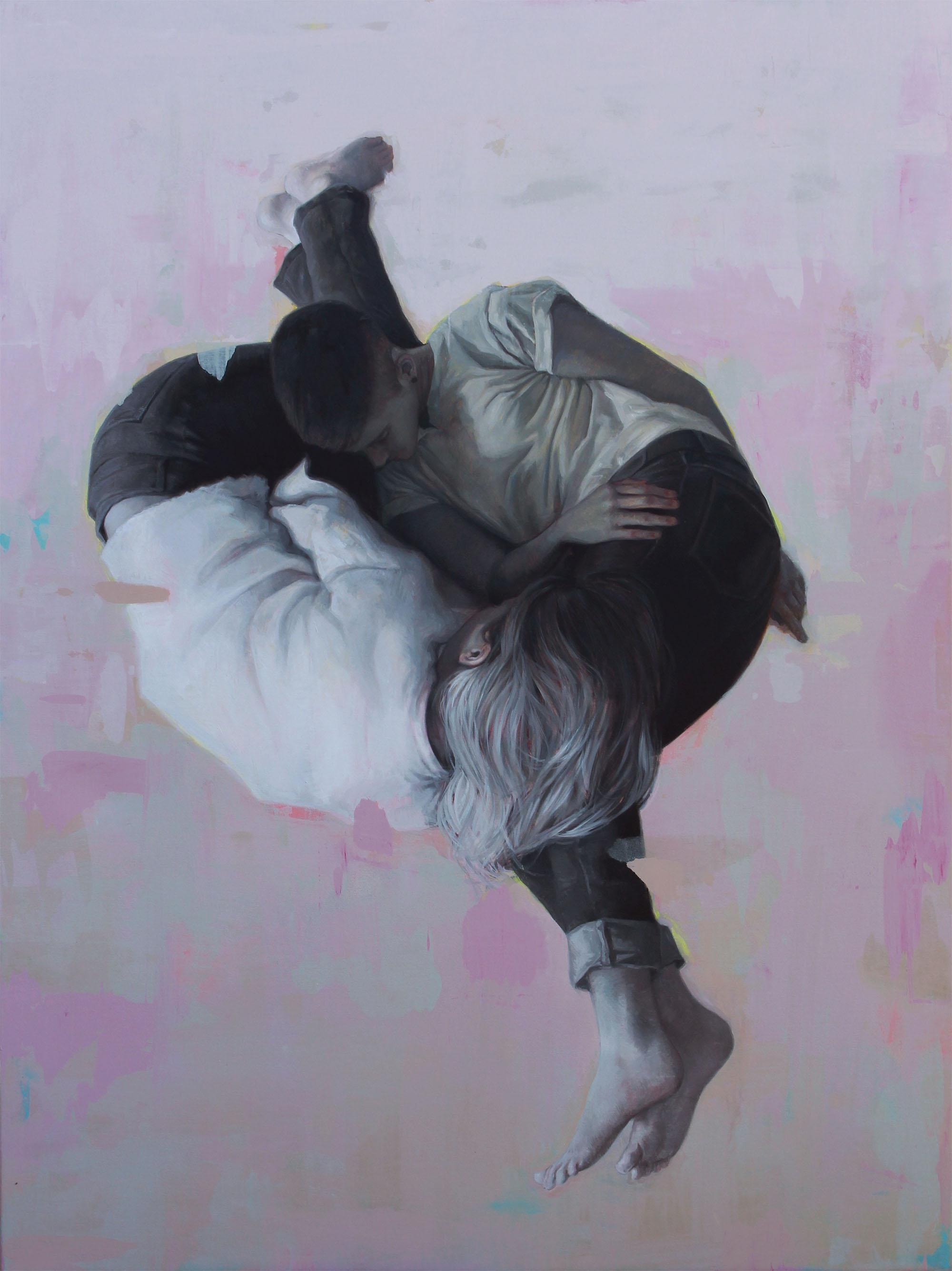 """Articulado"". Oil on canvas, 68""x48"". 2019"