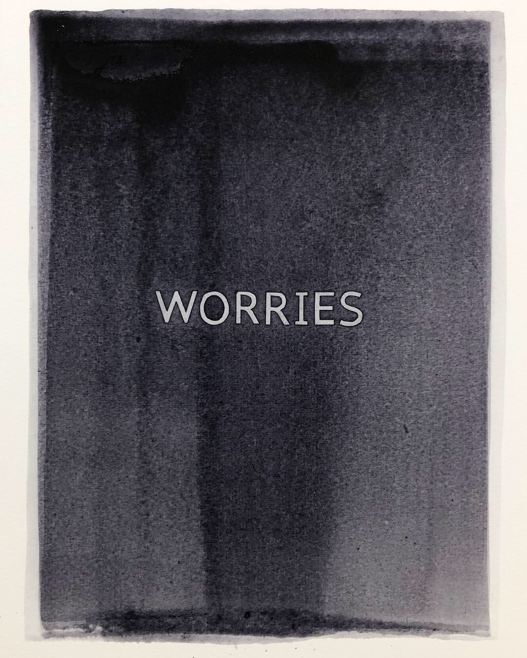 The Very Least Of Our Worries . 2019. Watercolour and polymer varnish on paper. Panel 6. 36.5x27cm