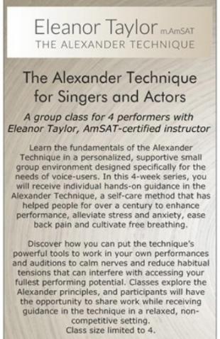 NEWS & SCHEDULE — Eleanor Taylor
