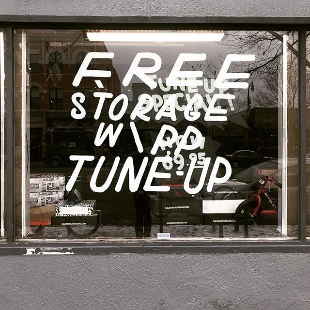Tune up special now comes with bike storage until spring