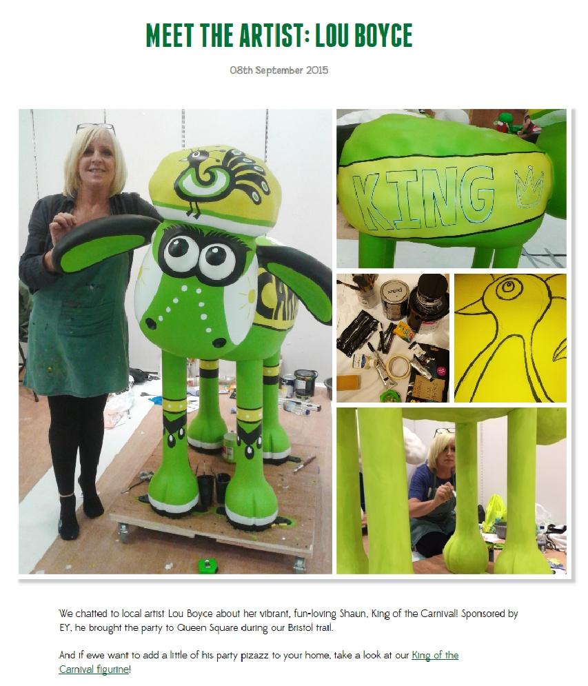 Meet the Artist, Shaun in the City website