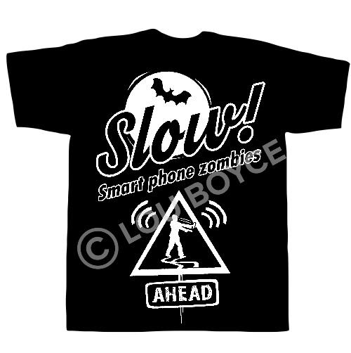 Smart Phone Zombies t-shirt design - Lou Boyce