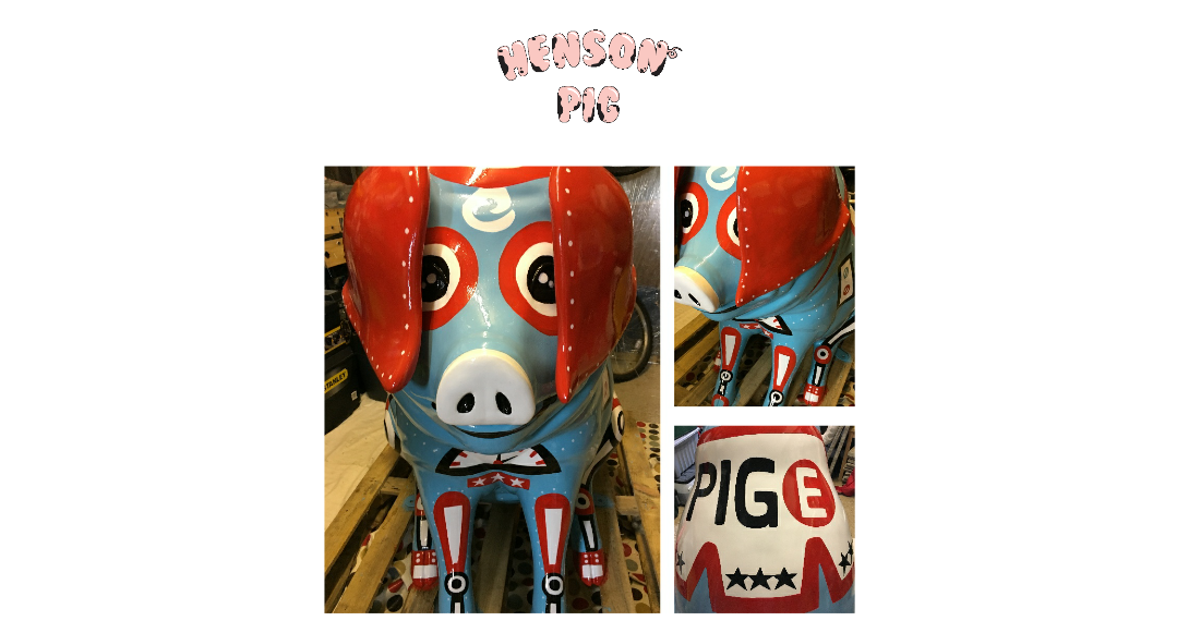Pig-e the robot pig - Henson pig by Lou Boyce
