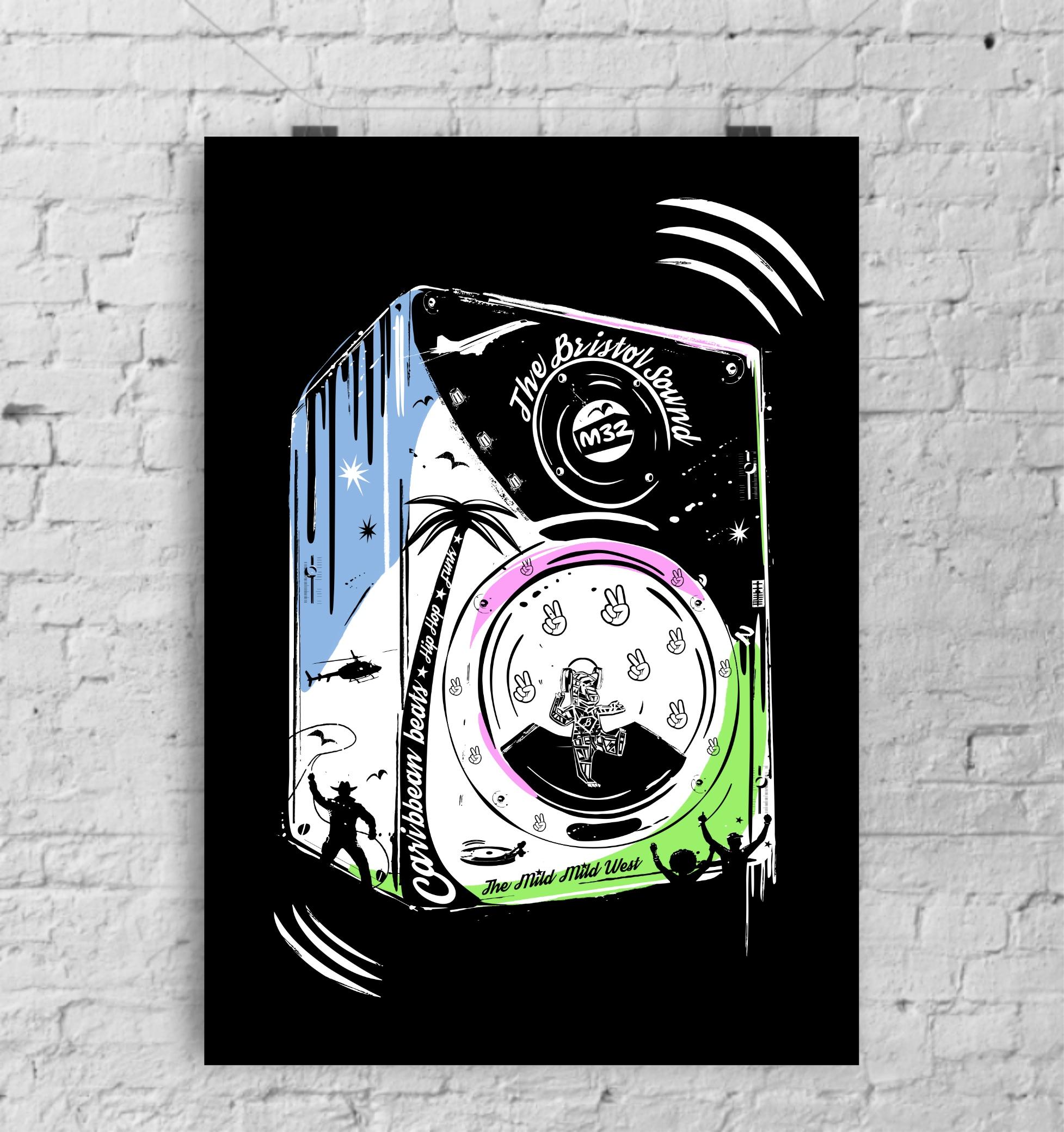 The Bristol Sound - art print by Lou Boyce