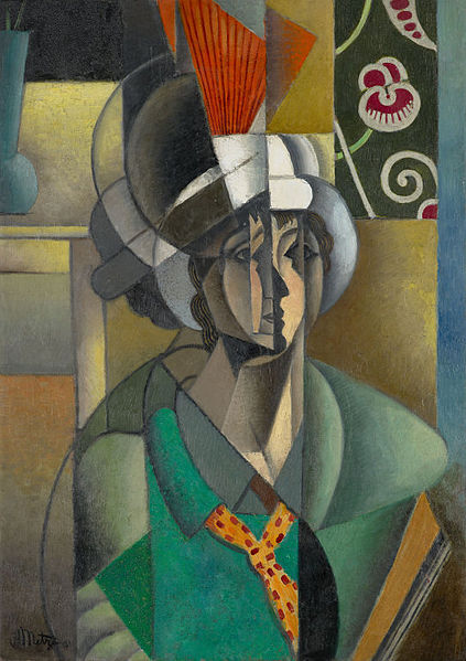 Jean_Metzinger,_1913,_La_Femme_à_l'Éventail,_Woman_with_a_Fan,_oil_on_canvas,_92.8_x_65.2_cm,_Art_Institute_of_Chicago..jpg
