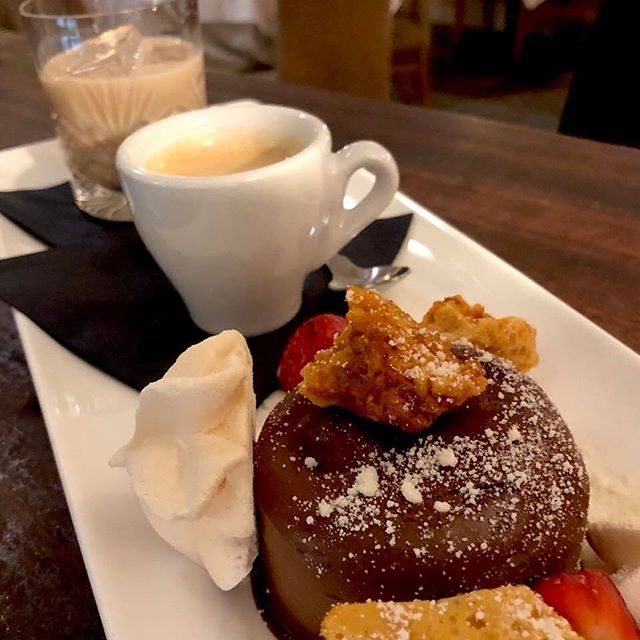 Have you tried our chocolate gourmand with its chocolate mousse, espresso & a shot of Baileys? #baileys #chocolategourmand #chocolate #dessert #espresso #coffee #mousse