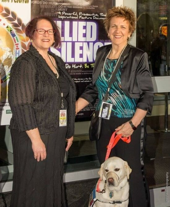 Producer/Writer Susan Broude and Director/Editor Tami Pivnick at Film Premiere Boston Int'l Film Festival.